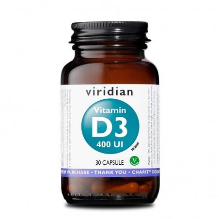 Integratore Vegano Viridian - Vitamin D3 400 UI 30 Capsule