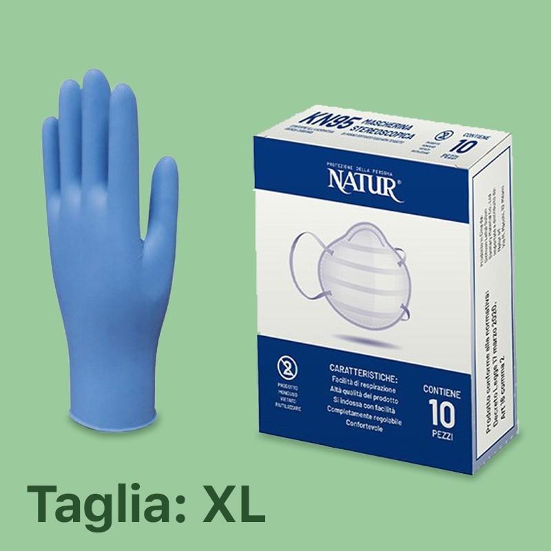 Promo Pack Guanti tg. XL + 10 Mascherine