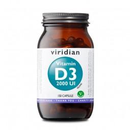 Integratore Vegano Viridian - Vitamin D3 2000 UI 150 Capsule