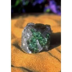 Green Tourmaline/Smoky Quartz (Tormaline Verde/ Quarzo Affumicato)